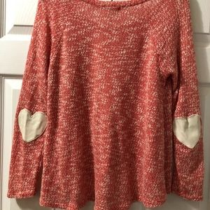 Heart, Elbow Patched Sweater